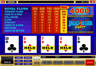 Play Jacks or Better Video Poker at Prime Casino
